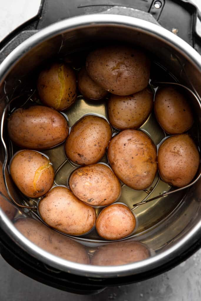 red potatoes for Instant Pot Boiled Potatoes in the pressure cooker