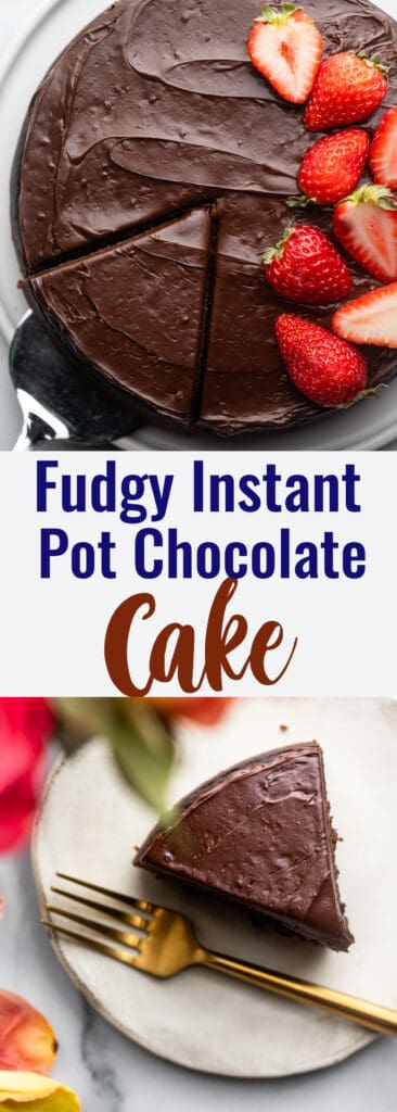 Instant Pot Chocolate Cake collage photo