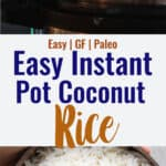 Instant Pot Coconut Rice collage photo