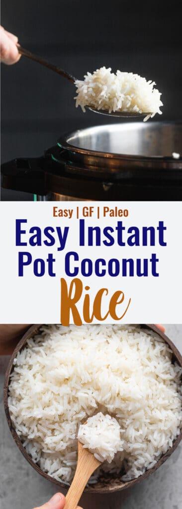 Instant Pot Coconut Rice collage photo