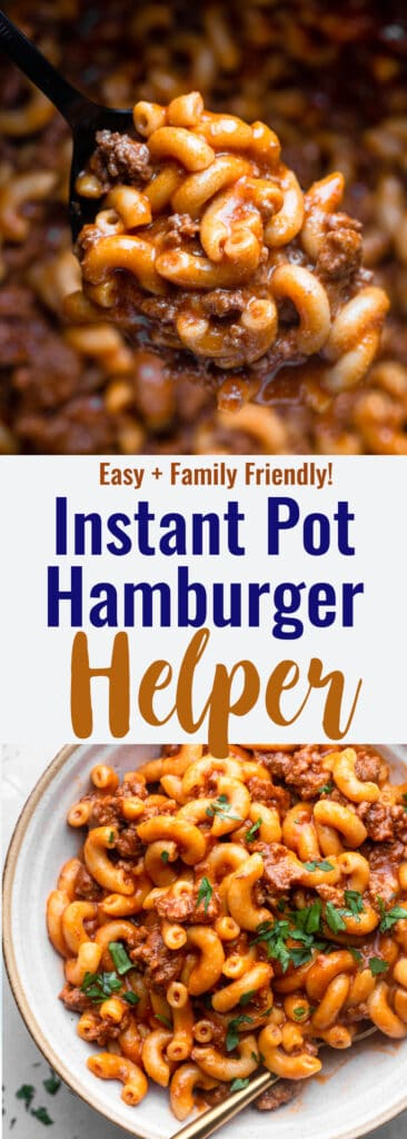 Instant Pot Hamburger Helper collage photo