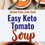 Keto Tomato Soup collage photo