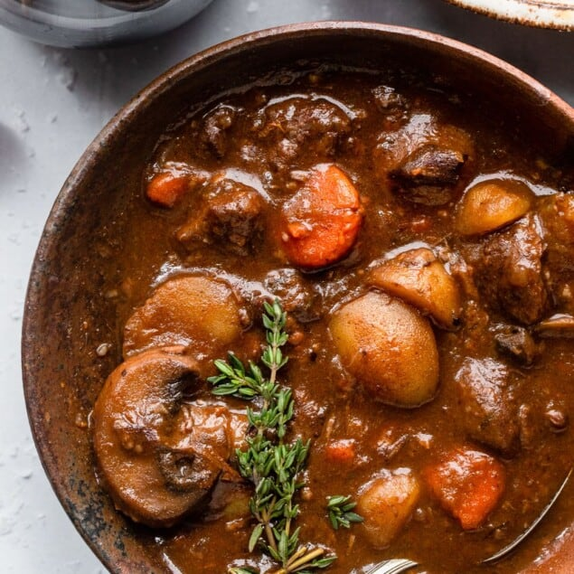 bowl of lamb stew