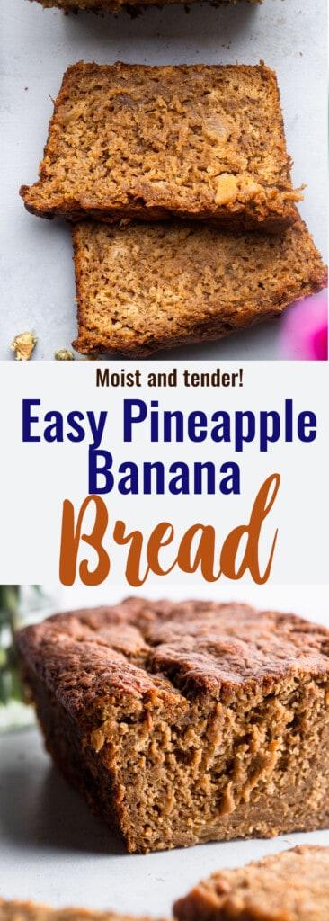 Banana Pineapple Bread collge photo