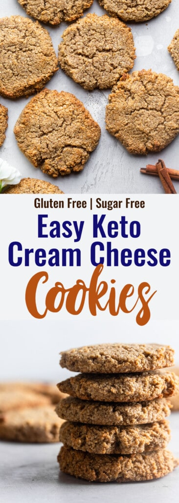 Keto Cream Cheese Cookies collage photo