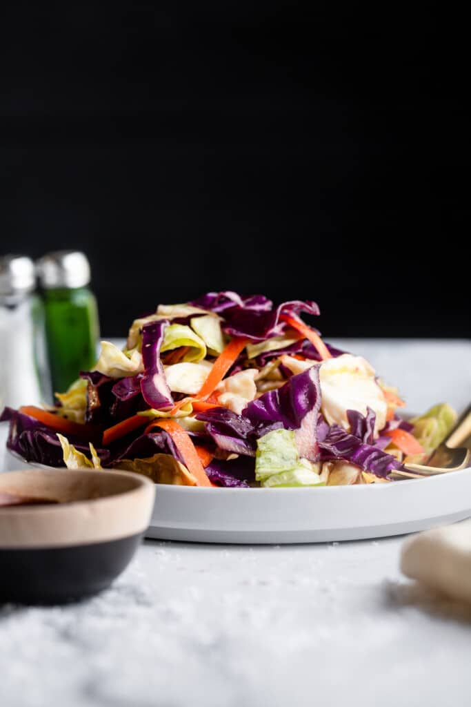 one plate of Cabbage Salad on a table