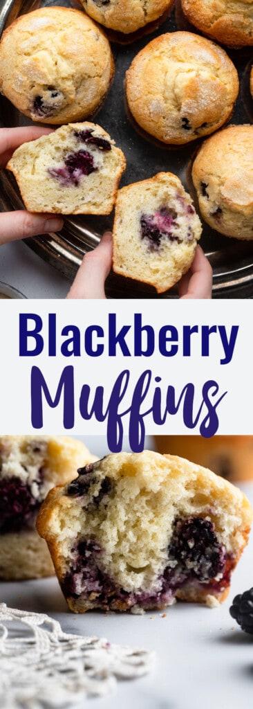 Blackberry Muffins collage photo