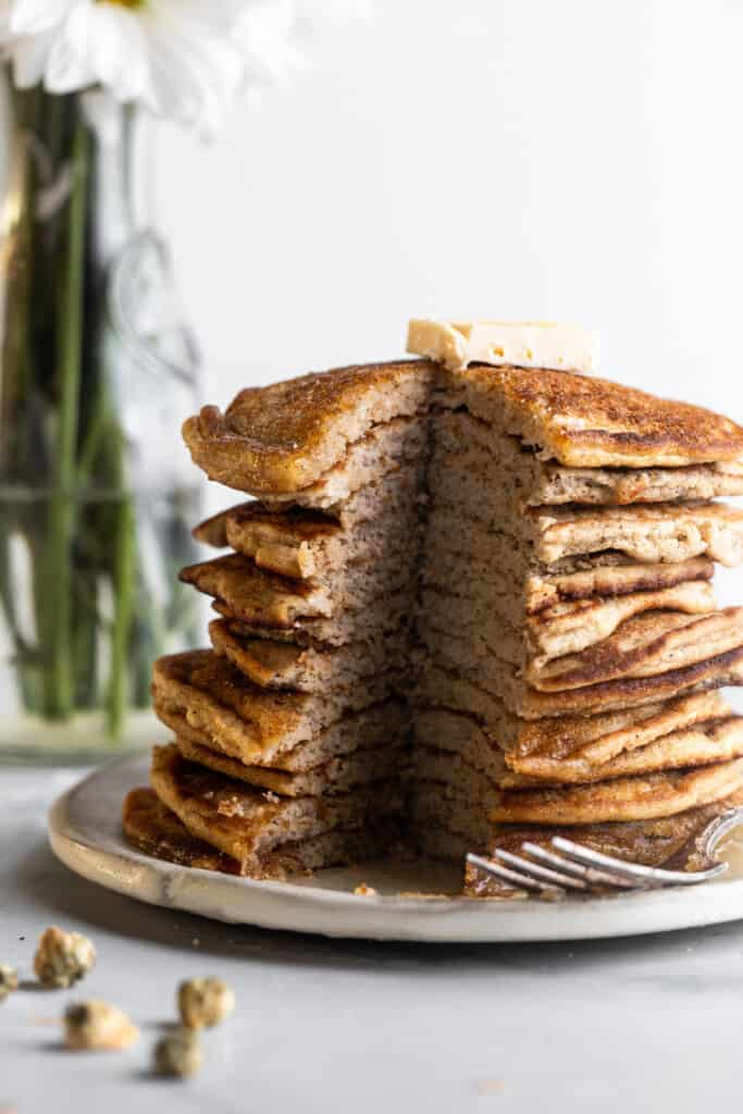 a bunch of Keto Coconut Flour Pancakes on a plate
