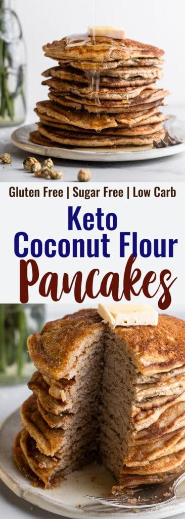 Keto Coconut Flour Pancakes collage photos