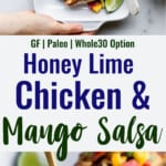 Mango Salsa Chicken collage photo