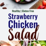 Strawberry Chicken Salad collage photo