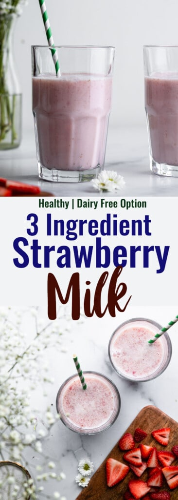 Strawberry Milk collage photo