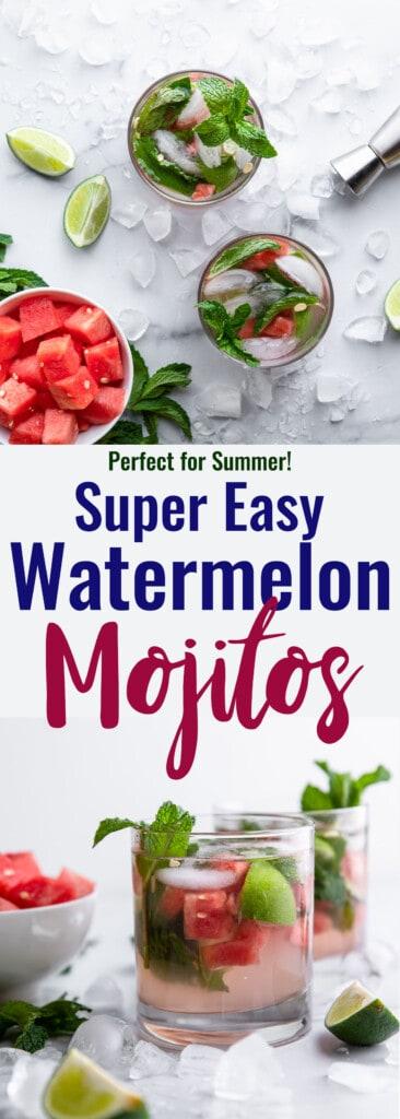 Watermelon Mojito collage photo