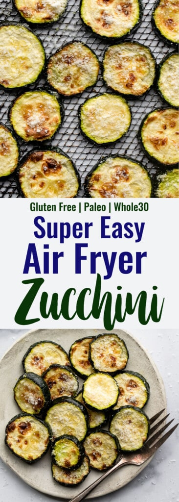 Air Fryer Zucchini collage photo