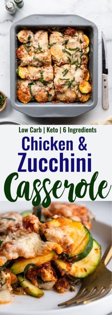 Chicken Zucchini Casserole collage photo