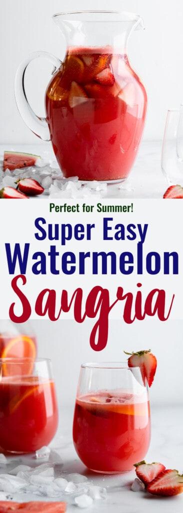 Watermelon Sangria collage photo