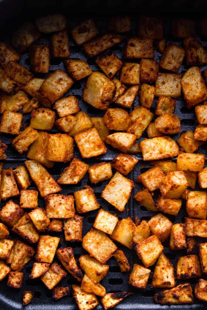 Air Fryer Breakfast Potatoes freshly baked