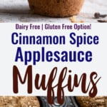 Applesauce Muffins collage photo
