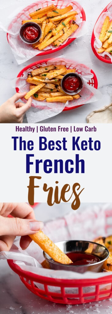 Keto French Fries collage photo
