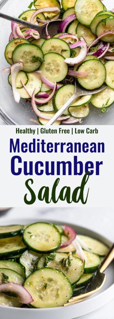 Mediterranean Cucumber Salad collage photo