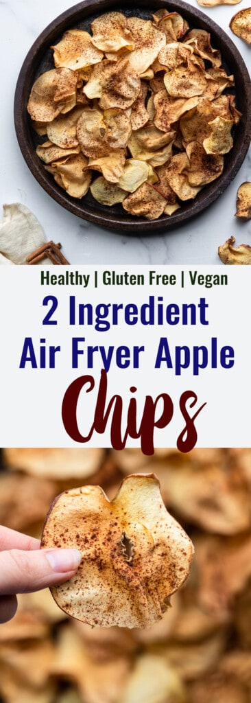 Air Fryer Apple Chips collage photo