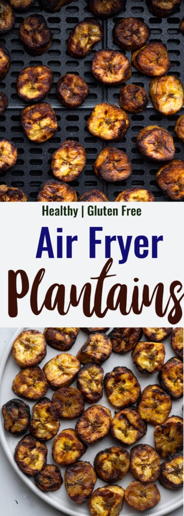 Air Fryer Plantains collage photos