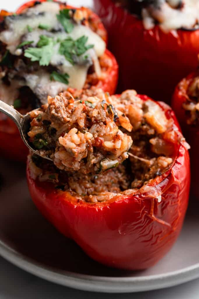 a tray of Air Fryer Stuffed Peppers