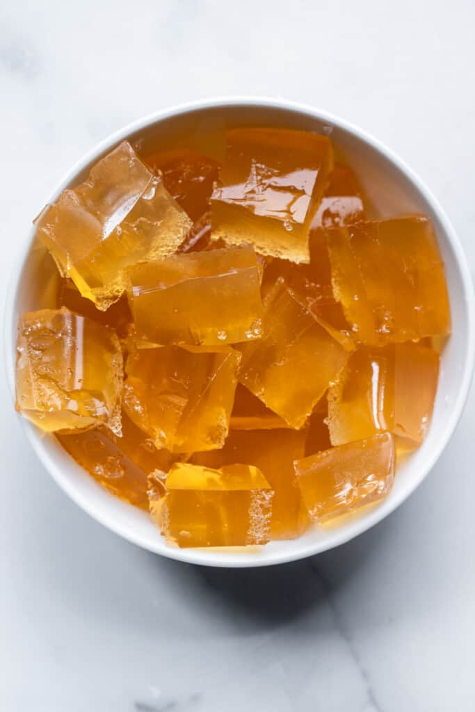 Apple Cider Vinegar Gummies pieces in a bowl