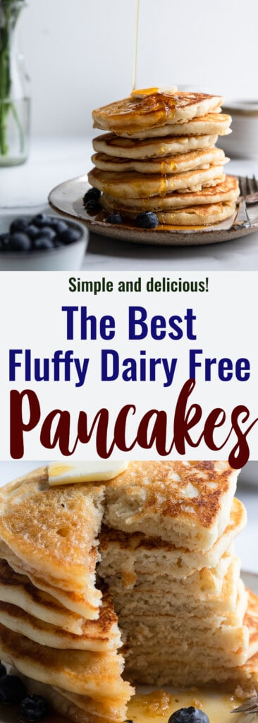Dairy Free Pancakes collage photo