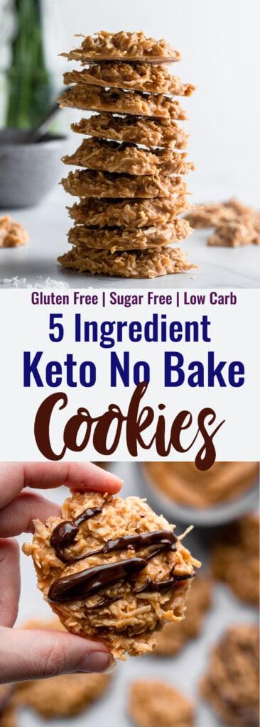 Keto No Bake Cookies collage photo
