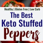 Keto Stuffed Peppers collage photo