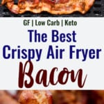 air fryer bacon collage photo