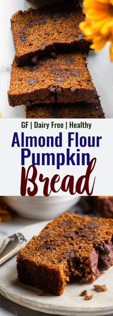 Almond Flour Pumpkin Bread collage photo