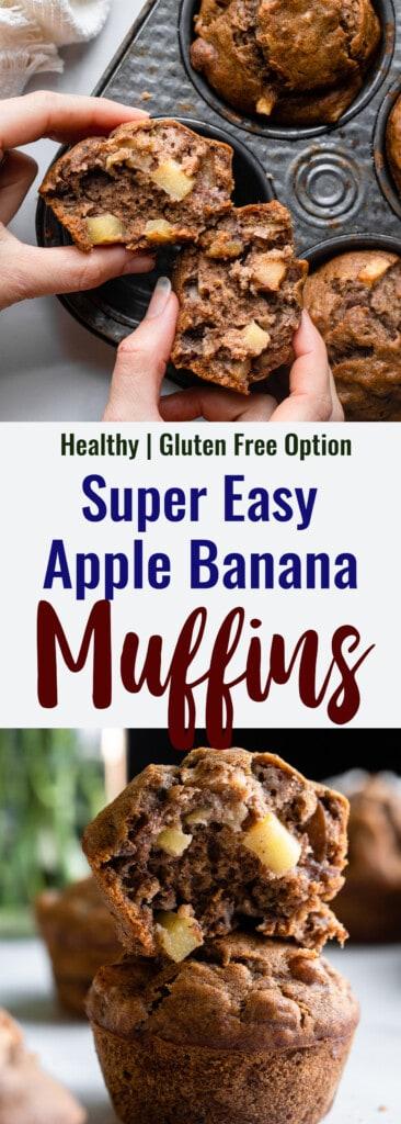 Apple Banana Muffins collage photo