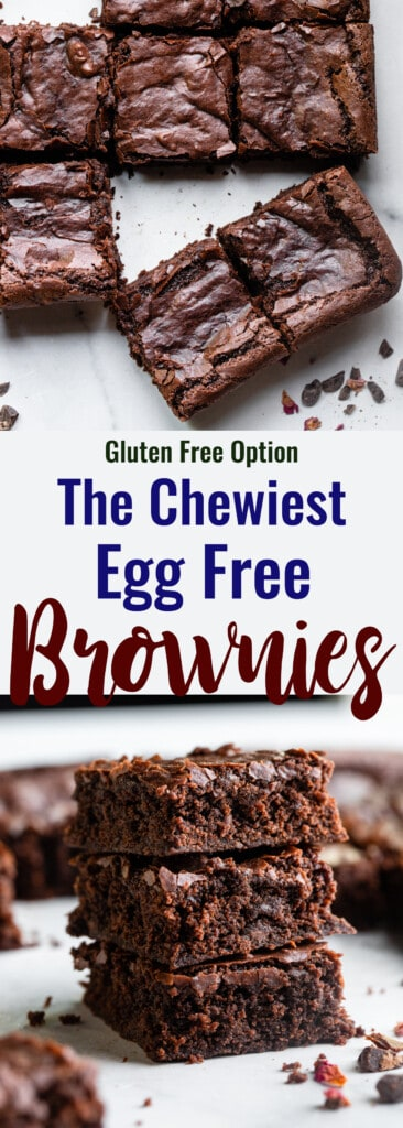 Eggless Brownies collage photo