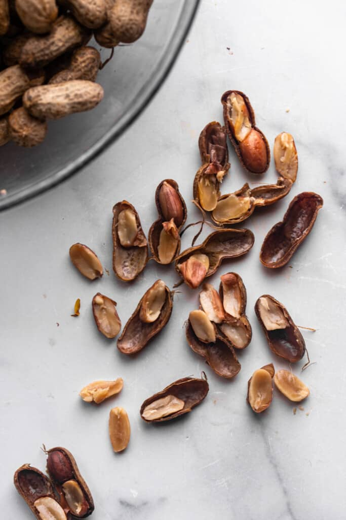 shells from peanuts for Instant Pot Boiled Peanuts