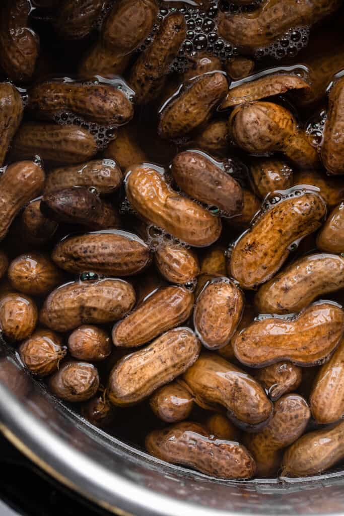 peanuts for Instant Pot Boiled Peanuts soaking in instant pot