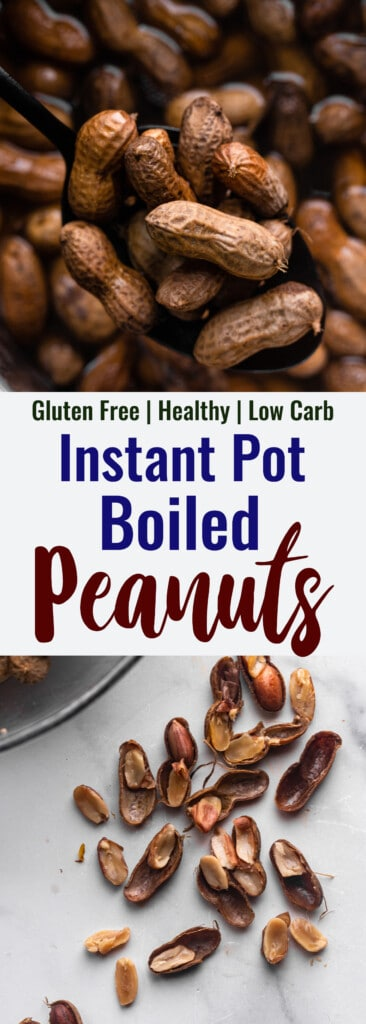 Instant Pot Boiled Peanuts collage photo
