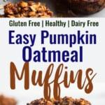 Pumpkin Oatmeal Muffins collage photo