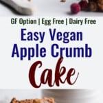 Vegan Apple Cake collage photo