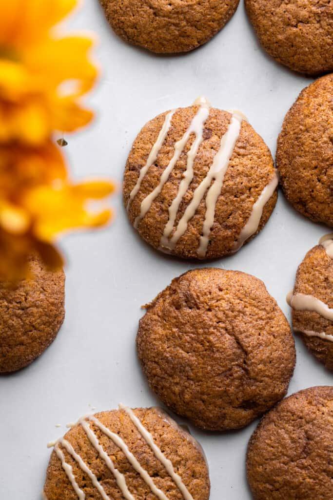 Vegan Pumpkin Cookies on a table