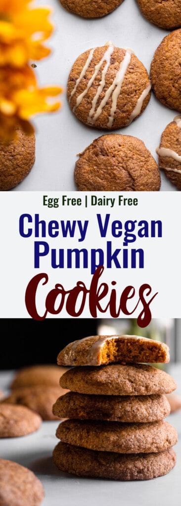 Vegan Pumpkin Cookies collage photo