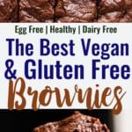 Vegan Gluten Free Brownies collage photo